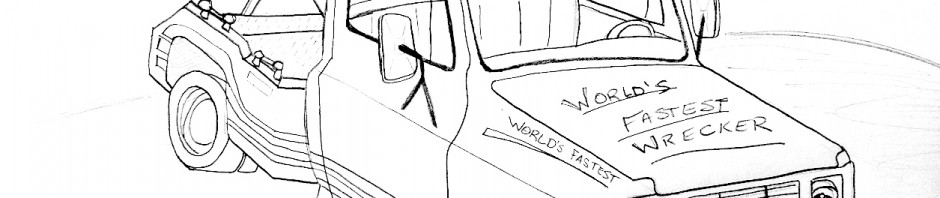 World's Fastest Wrecker Coloring Page