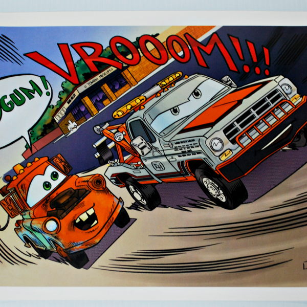 "18""x11.5"" Mater and World's Fastest Poster"